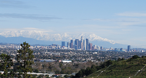 los angeles january snowcapped